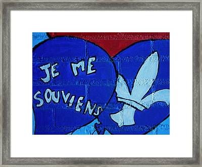 Je Me Souviens ... Framed Print by Juergen Weiss