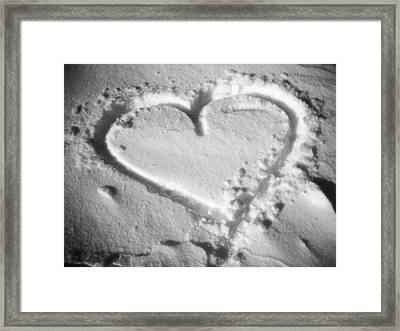Winter Heart Framed Print