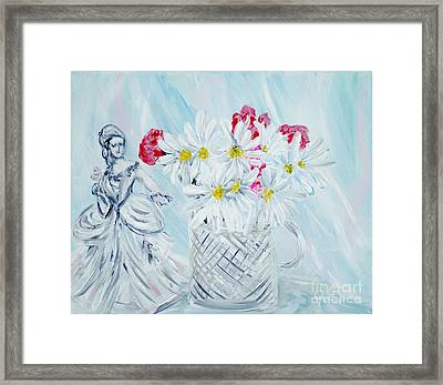 Je Vous Remerci. Thank You Collection Framed Print