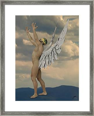 Jealous Angel Framed Print