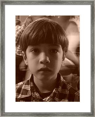 Framed Print featuring the photograph Jealous Boy by Beto Machado