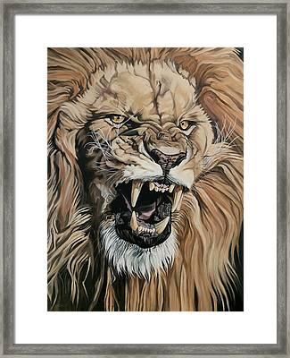 Jealous Roar Framed Print