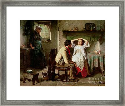 Jealousy And Flirtation Framed Print