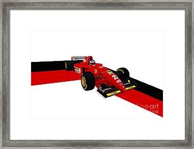 Jean Alesi - Ferrari 412t2 Framed Print by Jeremy Owen