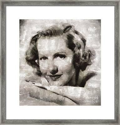 Jean Arthur, Hollywood Actress Framed Print