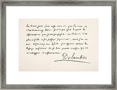 Jean Baptiste Joseph, Chevalier Framed Print by Vintage Design Pics