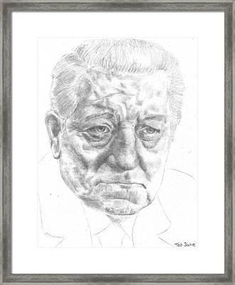 Jean Gabin Framed Print