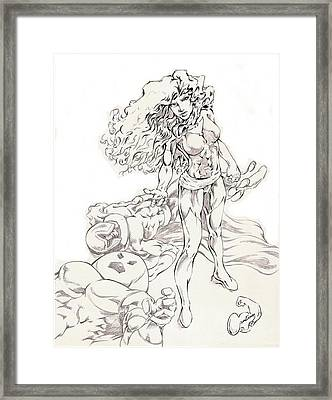 Jean Grey Framed Print by Eric Armstrong