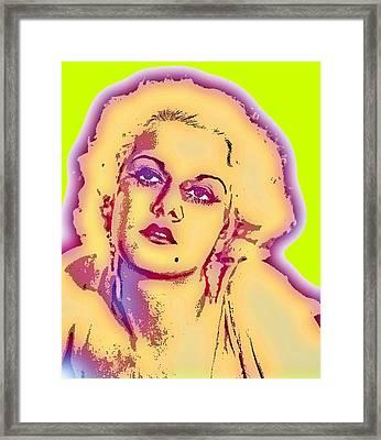 Jean Harlow-2 Framed Print by Otis Porritt