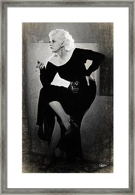 Jean Harlow Actress Draw Framed Print