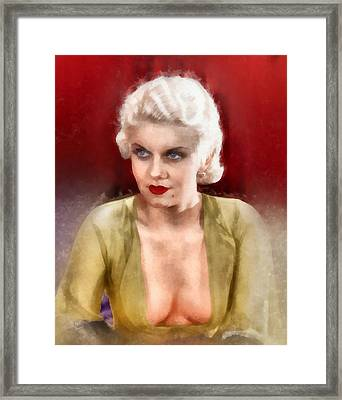 Jean Harlow By Frank Falcon Framed Print