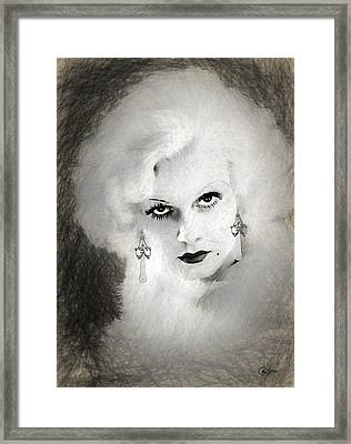 Jean Harlow Drawing Framed Print