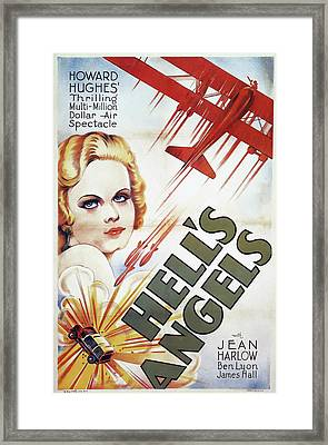 Jean Harlow In Hell's Angels 1930 Framed Print