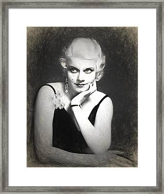 Jean Harlow Pencil Framed Print