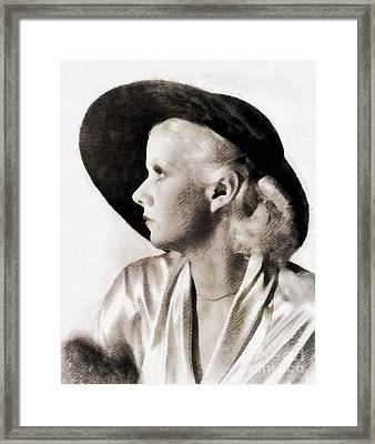 Jean Harlow, Vintage Actress Framed Print by John Springfield