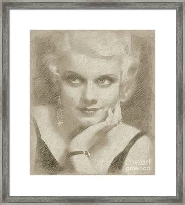 Jean Harlow Vintage Hollywood Actress Framed Print
