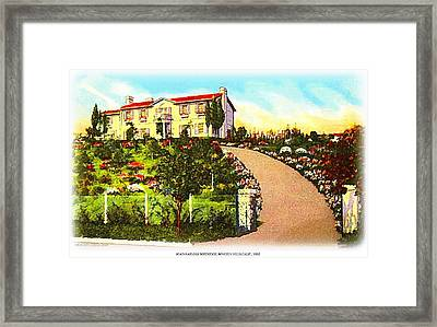 Jean Harlow's Beverly Hills Home In 1932 Framed Print