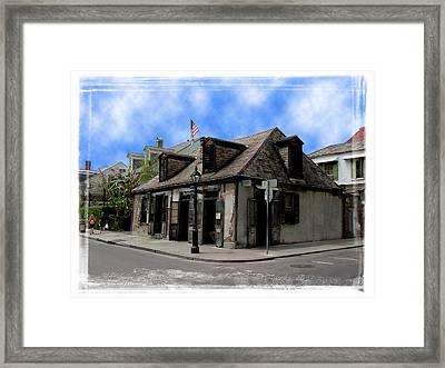 Jean Lafitte The Blacksmith Framed Print by Linda Kish