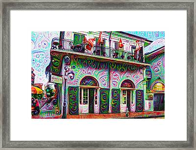 Jean Lafittes Old Absinthe House 1807 - New Orleans Framed Print by Bill Cannon