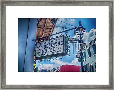 Jean Lafitte's Old Absinthe House Framed Print by Craig David Morrison