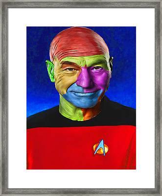 Jean-lic Picard 101 By Nixo Framed Print by Nicholas Nixo