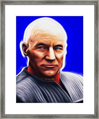 Jean-lic Picard By Nixo Framed Print by Nicholas Nixo