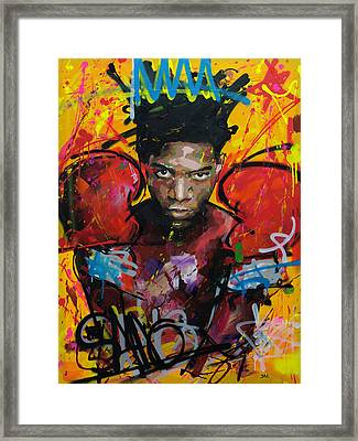 Jean-michel Basquiat Framed Print by Richard Day