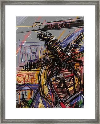 Jean Michel Basquiat Framed Print by Russell Pierce