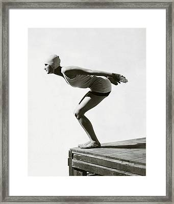 Jean Patou Swimwear Framed Print by George Hoyningen-Huene