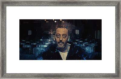 Jean Reno Framed Print by Afterdarkness