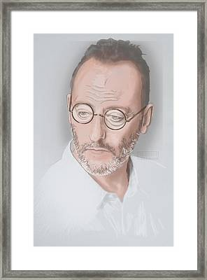Framed Print featuring the mixed media Jean Reno by TortureLord Art
