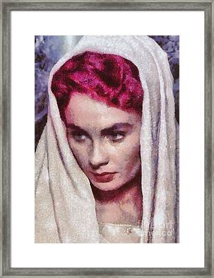 Jean Simmons, Vintage Hollywood Actress Framed Print