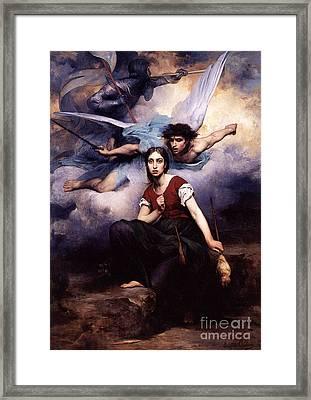 Jeanne D Arc Framed Print by MotionAge Designs