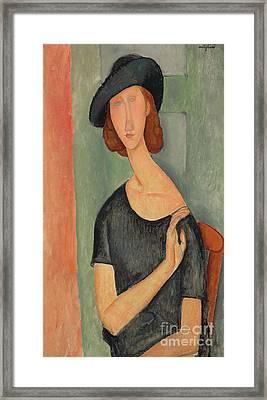 Jeanne Hebuterne Au Chapeau, 1919 Framed Print