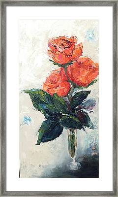 Jeannie's Roses Framed Print