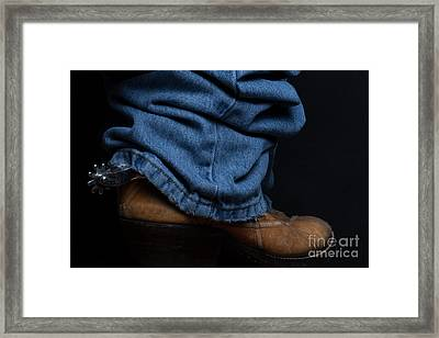 Jeans And Cowboy Boots Framed Print