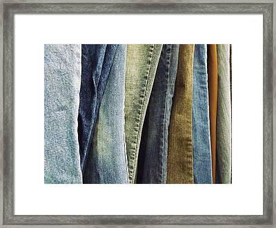 Jeans Framed Print by Anna Villarreal Garbis