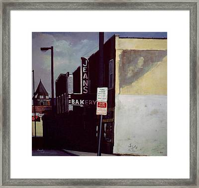 Jean's Bakery Framed Print by William  Brody