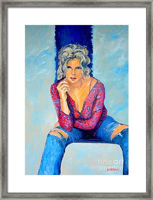 Jeans II Framed Print by Dagmar Helbig