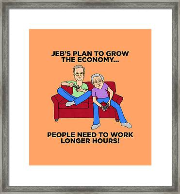 Jeb Bush Framed Print by Sean Corcoran