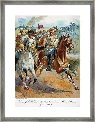 Jeb Stuarts Cavalry 1862 Framed Print by Granger
