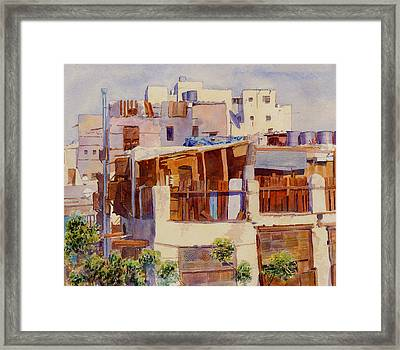 Jeddah Rooftops Framed Print by Dorothy Boyer