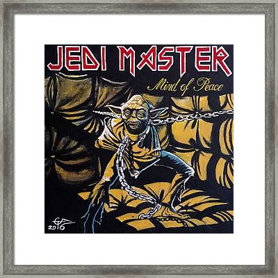 Jedi Master - Mind Of Peace Framed Print by Tom Carlton