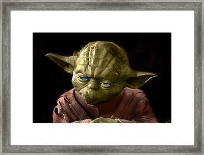 Jedi Yoda Framed Print