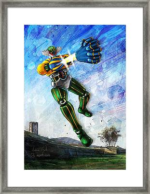 Jeeg Lucca Framed Print by Andrea Gatti