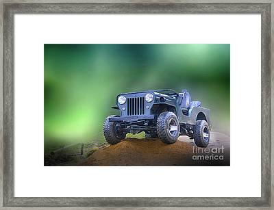 Framed Print featuring the photograph Jeep by Charuhas Images