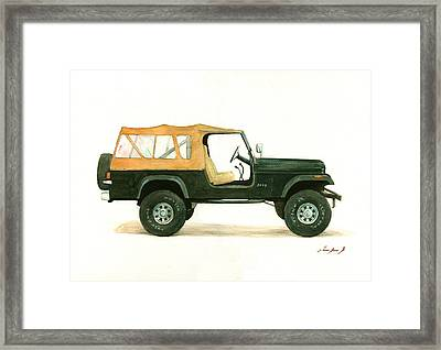 Jeep Cj8 Framed Print by Juan Bosco
