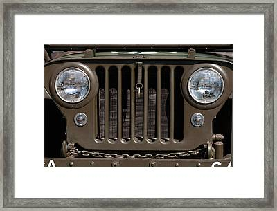Jeep Grill Framed Print by Dan Holm