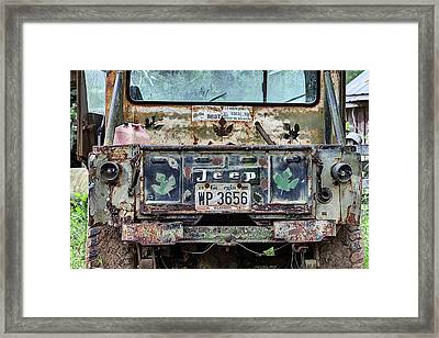 Jeep Made To Last Framed Print