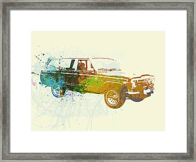 Jeep Wagoneer Framed Print by Naxart Studio